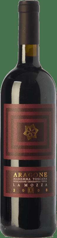 24,95 € Free Shipping   Red wine La Mozza Aragone D.O.C. Maremma Toscana Tuscany Italy Syrah, Grenache, Carignan, Sangiovese Bottle 75 cl