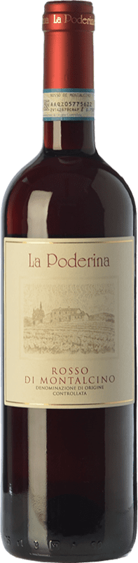 16,95 € Free Shipping | Red wine La Poderina D.O.C. Rosso di Montalcino Tuscany Italy Sangiovese Bottle 75 cl