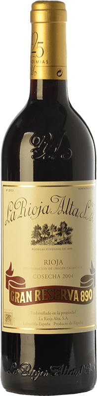 159,95 € | Red wine Rioja Alta 890 Gran Reserva 2004 D.O.Ca. Rioja The Rioja Spain Tempranillo, Graciano, Mazuelo Bottle 75 cl