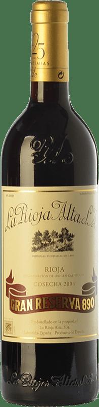 164,95 € Envoi gratuit | Vin rouge Rioja Alta 890 Gran Reserva 2004 D.O.Ca. Rioja La Rioja Espagne Tempranillo, Graciano, Mazuelo Bouteille 75 cl