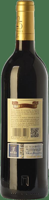149,95 € Free Shipping | Red wine Rioja Alta 890 Gran Reserva 2004 D.O.Ca. Rioja The Rioja Spain Tempranillo, Graciano, Mazuelo Bottle 75 cl