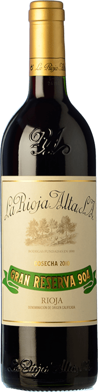 49,95 € Free Shipping | Red wine Rioja Alta 904 Gran Reserva 2010 D.O.Ca. Rioja The Rioja Spain Tempranillo, Graciano Bottle 75 cl