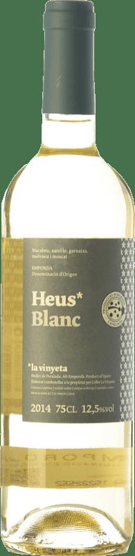 7,95 € Envío gratis | Vino blanco La Vinyeta Heus Blanc D.O. Empordà Cataluña España Garnacha Blanca, Moscatel de Alejandría, Macabeo, Xarel·lo Botella 75 cl