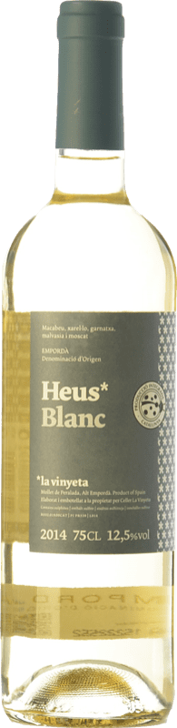 7,95 € | White wine La Vinyeta Heus Blanc D.O. Empordà Catalonia Spain Grenache White, Muscat of Alexandria, Macabeo, Xarel·lo Bottle 75 cl