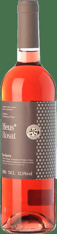 7,95 € Envío gratis | Vino rosado La Vinyeta Heus Rosat D.O. Empordà Cataluña España Merlot, Syrah, Garnacha, Samsó Botella 75 cl