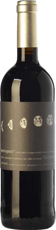 16,95 € Free Shipping | Red wine La Vinyeta Puntiapart Crianza D.O. Empordà Catalonia Spain Cabernet Sauvignon, Carignan Bottle 75 cl