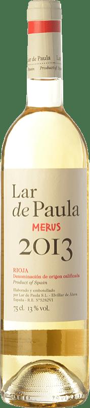 6,95 € Envío gratis | Vino blanco Lar de Paula Merus Crianza D.O.Ca. Rioja La Rioja España Viura, Malvasía Botella 75 cl