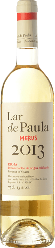 6,95 € Free Shipping | White wine Lar de Paula Merus Crianza D.O.Ca. Rioja The Rioja Spain Viura, Malvasía Bottle 75 cl