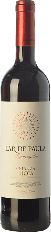 9,95 € Free Shipping | Red wine Lar de Paula Crianza D.O.Ca. Rioja The Rioja Spain Tempranillo Bottle 75 cl