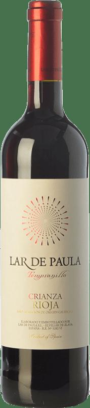 9,95 € Envío gratis | Vino tinto Lar de Paula Crianza D.O.Ca. Rioja La Rioja España Tempranillo Botella 75 cl
