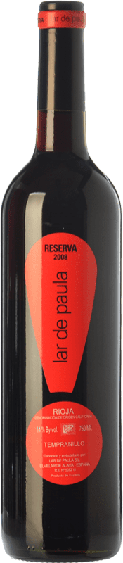 15,95 € Envoi gratuit | Vin rouge Lar de Paula Reserva D.O.Ca. Rioja La Rioja Espagne Tempranillo Bouteille 75 cl