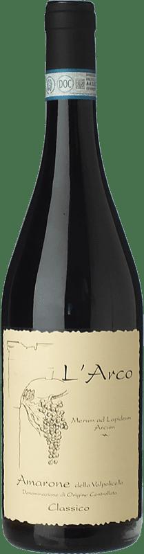 58,95 € Envío gratis | Vino tinto L'Arco Vini D.O.C.G. Amarone della Valpolicella Veneto Italia Corvina, Rondinella, Molinara Botella 75 cl