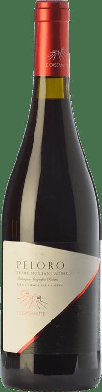 17,95 € Free Shipping | Red wine Le Casematte Peloro Rosso I.G.T. Terre Siciliane Sicily Italy Nerello Mascalese, Nocera Bottle 75 cl