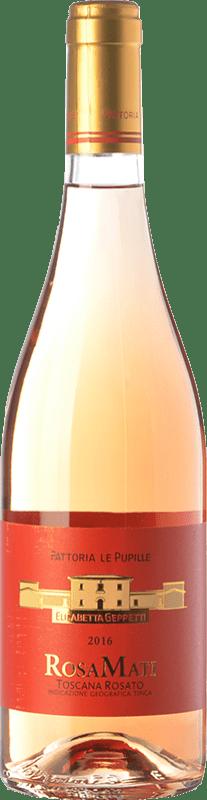 13,95 € Free Shipping | Rosé wine Le Pupille RosaMati I.G.T. Toscana Tuscany Italy Syrah Bottle 75 cl
