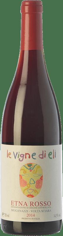 49,95 € Free Shipping | Red wine Le Vigne di Eli Rosso Moganazzi D.O.C. Etna Sicily Italy Nerello Mascalese, Nerello Cappuccio Bottle 75 cl