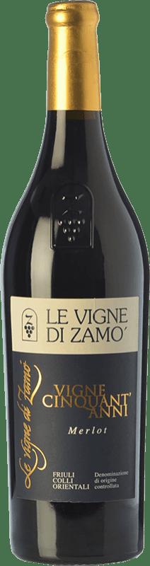 31,95 € Free Shipping | Red wine Zamò Vigne Cinquant' Anni D.O.C. Colli Orientali del Friuli Friuli-Venezia Giulia Italy Merlot Bottle 75 cl