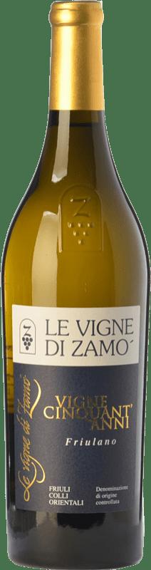 32,95 € Free Shipping | White wine Zamò Vigne Cinquant' Anni D.O.C. Colli Orientali del Friuli Friuli-Venezia Giulia Italy Friulano Bottle 75 cl