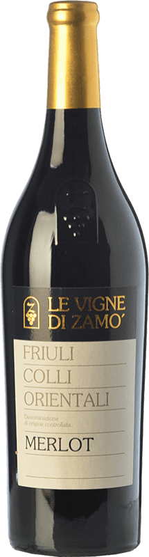 14,95 € Free Shipping | Red wine Zamò D.O.C. Colli Orientali del Friuli Friuli-Venezia Giulia Italy Merlot Bottle 75 cl