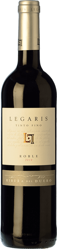 7,95 € Free Shipping | Red wine Legaris Roble D.O. Ribera del Duero Castilla y León Spain Tempranillo Bottle 75 cl
