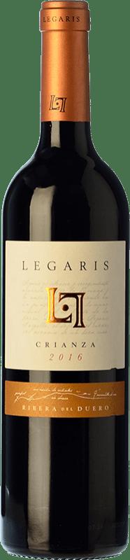 15,95 € Free Shipping | Red wine Legaris Crianza D.O. Ribera del Duero Castilla y León Spain Tempranillo, Cabernet Sauvignon Bottle 75 cl