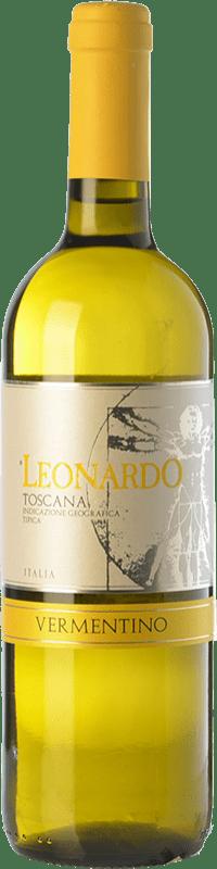 9,95 € | White wine Leonardo da Vinci Leonardo I.G.T. Toscana Tuscany Italy Vermentino Bottle 75 cl