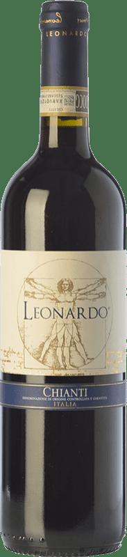 9,95 € | Red wine Leonardo da Vinci Leonardo D.O.C.G. Chianti Tuscany Italy Merlot, Sangiovese Bottle 75 cl