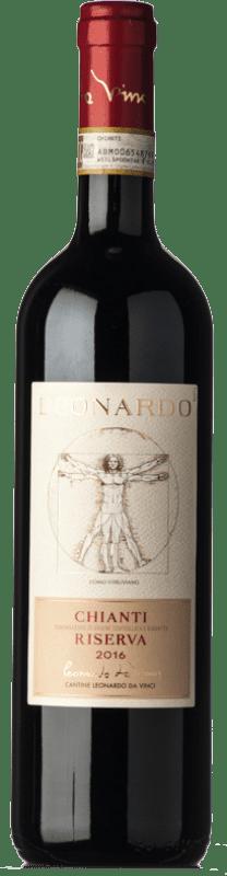 11,95 € | Red wine Leonardo da Vinci Leonardo Riserva Reserva D.O.C.G. Chianti Tuscany Italy Merlot, Sangiovese Bottle 75 cl