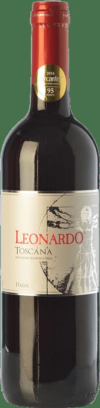 5,95 € | Red wine Leonardo da Vinci Leonardo Rosso I.G.T. Toscana Tuscany Italy Merlot, Sangiovese Bottle 75 cl