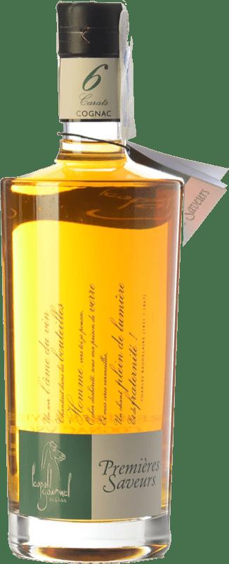 51,95 € 免费送货 | 科涅克白兰地 Léopold Gourmel Premières Saveurs 6 Carats A.O.C. Cognac 法国 瓶子 70 cl