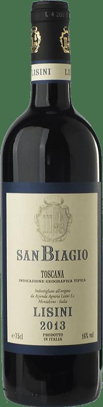 12,95 € Free Shipping | Red wine Lisini San Biagio I.G.T. Toscana Tuscany Italy Sangiovese Bottle 75 cl