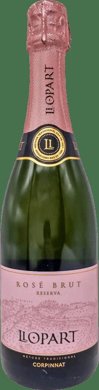 12,95 € Free Shipping | Rosé sparkling Llopart Rosé Brut Reserva D.O. Cava Catalonia Spain Grenache, Monastrell, Pinot Black Bottle 75 cl