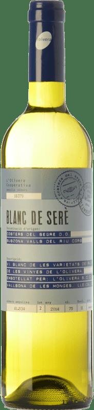 7,95 € | White wine L'Olivera Blanc de Serè D.O. Costers del Segre Catalonia Spain Macabeo, Chardonnay, Parellada Bottle 75 cl