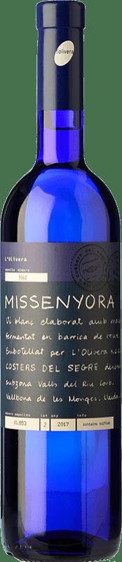 16,95 € | White wine L'Olivera Missenyora Crianza D.O. Costers del Segre Catalonia Spain Macabeo Bottle 75 cl