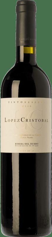 24,95 € 免费送货 | 红酒 López Cristóbal Reserva D.O. Ribera del Duero 卡斯蒂利亚莱昂 西班牙 Tempranillo, Merlot 瓶子 75 cl