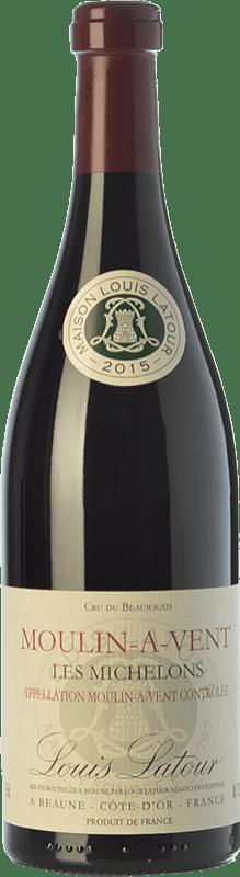 23,95 € Envío gratis | Vino tinto Louis Latour Les Michelons Joven A.O.C. Moulin à Vent Beaujolais Francia Gamay Botella 75 cl