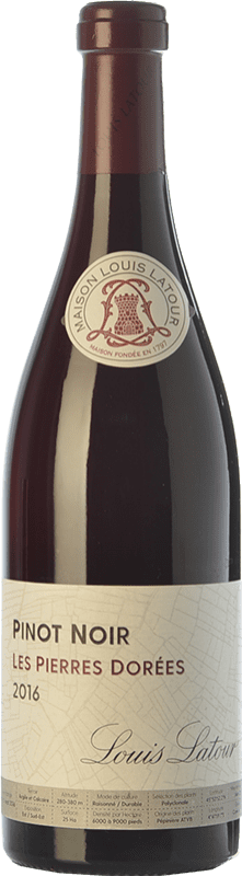24,95 € Free Shipping | Red wine Louis Latour Les Pierres Dorées Joven A.O.C. Côtes de Bourg Bordeaux France Pinot Black Bottle 75 cl