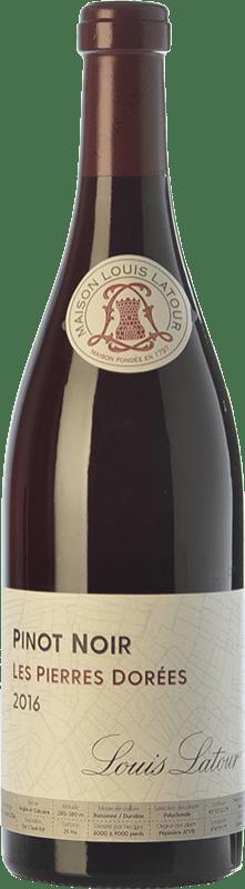 24,95 € Envío gratis | Vino tinto Louis Latour Les Pierres Dorées Joven A.O.C. Côtes de Bourg Burdeos Francia Pinot Negro Botella 75 cl
