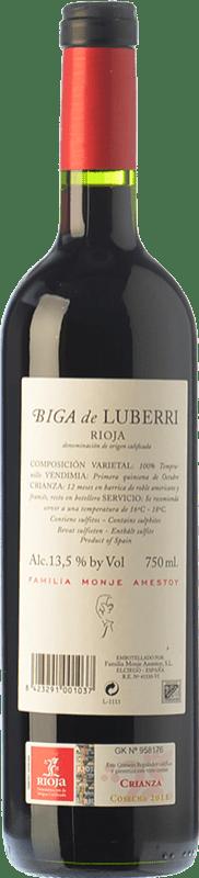 11,95 € Free Shipping   Red wine Luberri Biga Crianza D.O.Ca. Rioja The Rioja Spain Tempranillo Magnum Bottle 1,5 L