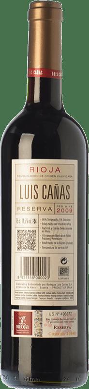 15,95 € Free Shipping | Red wine Luis Cañas Reserva D.O.Ca. Rioja The Rioja Spain Tempranillo, Grenache, Graciano, Mazuelo Bottle 75 cl