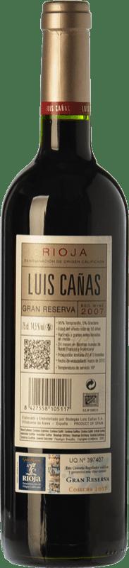 29,95 € Free Shipping | Red wine Luis Cañas Gran Reserva D.O.Ca. Rioja The Rioja Spain Tempranillo, Graciano Bottle 75 cl