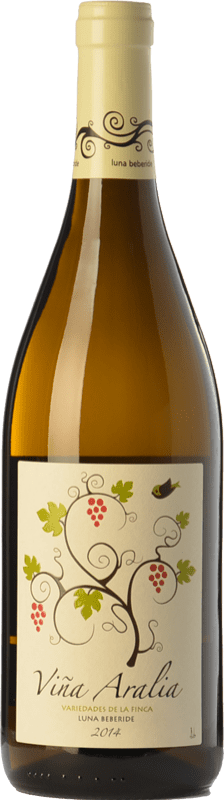 5,95 € 免费送货 | 白酒 Luna Beberide Viña Aralia Joven I.G.P. Vino de la Tierra de Castilla y León 卡斯蒂利亚莱昂 西班牙 Chardonnay, Sauvignon White, Gewürztraminer 瓶子 75 cl