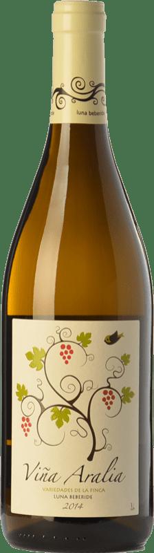 5,95 € Envío gratis | Vino blanco Luna Beberide Viña Aralia Joven I.G.P. Vino de la Tierra de Castilla y León Castilla y León España Chardonnay, Sauvignon Blanca, Gewürztraminer Botella 75 cl