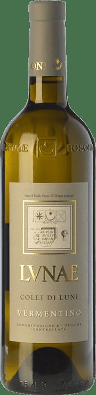 12,95 € Free Shipping | White wine Lunae Etichetta Grigia D.O.C. Colli di Luni Liguria Italy Vermentino Bottle 75 cl