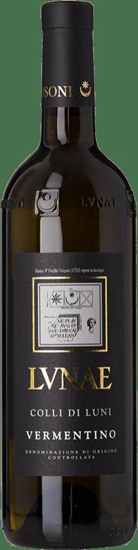 19,95 € Free Shipping | White wine Lunae Etichetta Nera D.O.C. Colli di Luni Liguria Italy Vermentino Bottle 75 cl