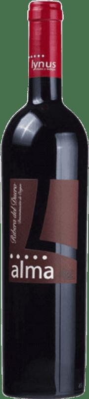 12,95 € Envío gratis | Vino tinto Lynus Alma López Crianza D.O. Ribera del Duero Castilla y León España Tempranillo Botella 75 cl