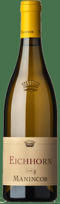 26,95 € Envío gratis | Vino blanco Manincor Pinot Bianco Eichhorn D.O.C. Alto Adige Trentino-Alto Adige Italia Pinot Blanco Botella 75 cl