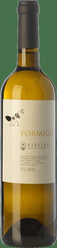 9,95 € Free Shipping | White wine Formigo D.O. Ribeiro Galicia Spain Torrontés, Godello, Loureiro, Palomino Fino, Treixadura, Albariño Bottle 75 cl