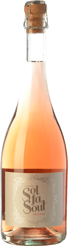 8,95 € 免费送货 | 玫瑰气泡酒 Pelleriti Sol Fa Soul Espumante Rose 香槟 I.G. Valle de Uco Uco谷 阿根廷 Cabernet Sauvignon, Malbec 瓶子 75 cl