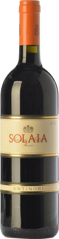 313,95 € Free Shipping | Red wine Marchesi Antinori Solaia Crianza I.G.T. Toscana Tuscany Italy Cabernet Sauvignon, Sangiovese, Cabernet Franc Bottle 75 cl