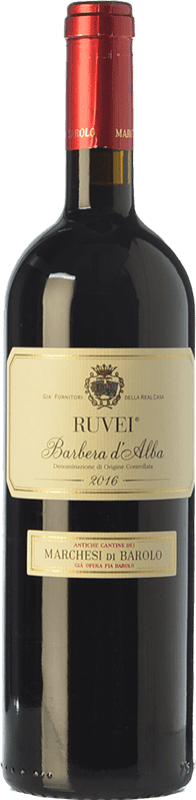 15,95 € Free Shipping | Red wine Marchesi di Barolo Ruvei D.O.C. Barbera d'Alba Piemonte Italy Barbera Bottle 75 cl